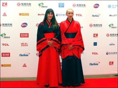 As irmãs russas Anastasia e Arina Rodionova