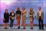 2015 Guangzhou International Women's Open –Evento