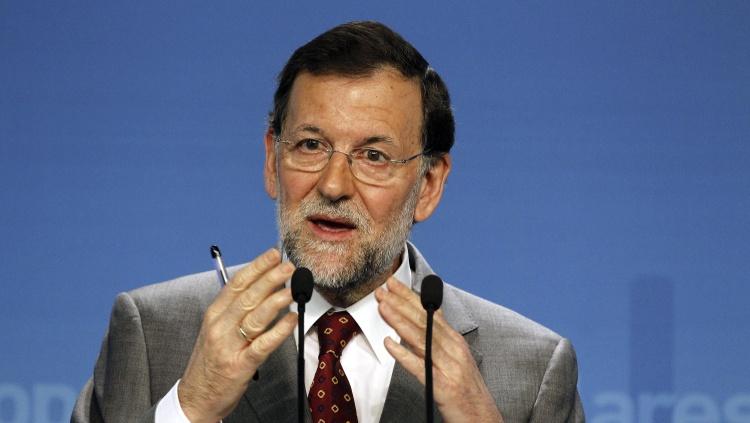 NAC71 MADRID, 28/05/2012.- El presidente del Gobierno, Mariano Rajoy, durante la rueda de prensa que ofreció tras presidir el Comité Ejecutivo Nacional del PP, hoy en Madrid. EFE/J.J. Guillén