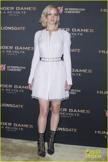 51903364 Photocall for 'Hunger Games : Mockingjay Part 2' at the Plaza Athenee hotel in Paris on November 9, 2015. Photocall for 'Hunger Games : Mockingjay Part 2' at the Plaza Athenee hotel in Paris on November 9, 2015. Pictured: Jennifer Lawrence FameFlynet, Inc - Beverly Hills, CA, USA - +1 (818) 307-4813 RESTRICTIONS APPLY: USA ONLY