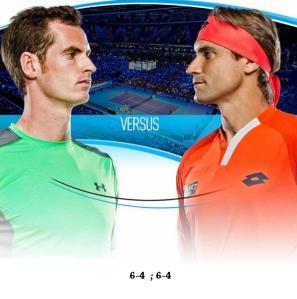 Andy Murray venceu a primeira partida contra o espanhol David Ferrer