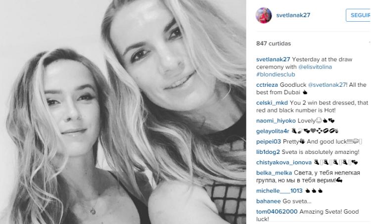 apareceu no perfil do instagram da tenista russa :)