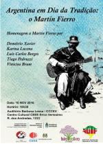 Homenagem a Martin Fierro na Feira do Livro de PortoAlegre