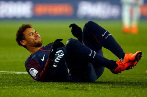 Neymar Jr of PSG during the French Championship Ligue 1 soccer match between Paris Saint-Germain and Olympique de Marseille on february 25, 2018 at Parc des Princes stadium in Paris, France. (Photo by Mehdi Taamallah/NurPhoto via Getty Images)