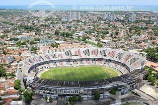 Foto aérea do Estádio José do Rego Maciel (1972) - também conhecido como Estádio do Arruda