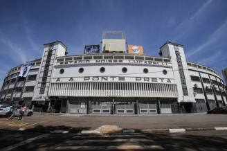 CAMPINAS - SP / 25.04.2017/ ESTADIO DA PONTE PRETA / ESPORTES / ESPECIAL DOMINICAL / EMBARGADO Estadio Moises Lucarelli, em Campinas, que recebera o primeiro jogo da final do Campeonato Paulista 2017 entre a Ponte Preta e o Corinthians no proximo domingo, dia 30. Inaugurado em 1948 e construido pelos torcedores, o estadio da Ponte Preta foi tombado pelo patrimonio historico e conserva parte do piso e fachada originais. FOTO AMANDA PEROBELLI/ESTADAO