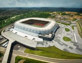 Vista aérea da Itaipava Arena Pernambuco no dia 28 de maio de 2013, fotografada por Inês Campelo/Itaipava Arena PE.