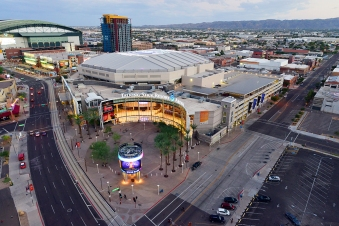 PHOENIX, AZ - OCTOBER 5: Talking Stick Resort Arena on October 5, 2015 at Talking Stick Resort Arena in Phoenix, Arizona. NOTE TO USER: User expressly acknowledges and agrees that, by downloading and or using this Photograph, user is consenting to the terms and conditions of the Getty Images License Agreement. Mandatory Copyright Notice: Copyright 2015 NBAE (Photo by Barry Gossage/NBAE via Getty Images)